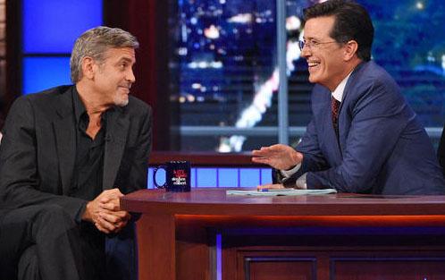 ClooneyOnColbert